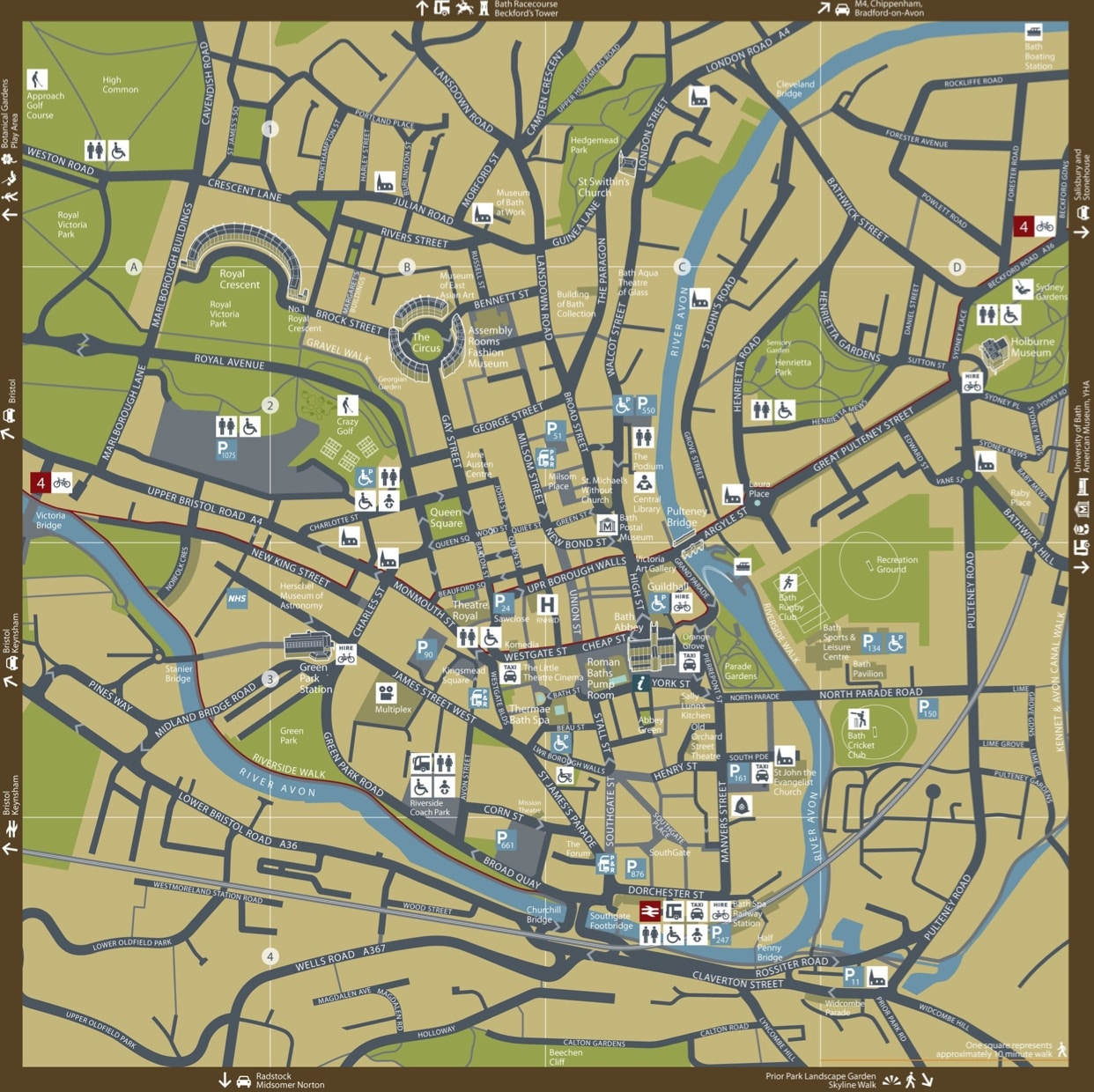 Bath City Centre Map