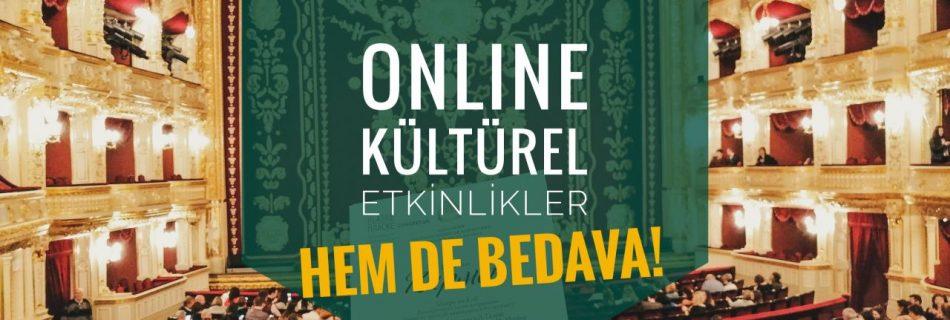 online kültürel etkinlikler
